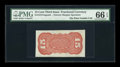 Fractional Currency:Third Issue, Fr. 1273/5SP 15¢ Third Issue Narrow Margin Specimen Back PMG Gem Uncirculated 66 EPQ....