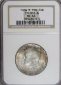 Kennedy Half Dollars: , 1964-D 50C MS63 NGC. Triple Die Obverse, FS-013.6. NGC Census:(79/431). PCGS Population (105/1164). Mintage: 156,205,440. ...