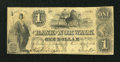 Obsoletes By State:Ohio, Norwalk, OH- Bank of Norwalk $1 Oct. 20. 1846. ...