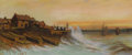 Works on Paper, Attributed to MAHONRI MACKINTOSH YOUNG (American 1877-1957). Harbor at Sunset, 1907. Pastel on paper. 5-3/4 x 13-1/2 inc...