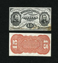 Fractional Currency:Third Issue, Fr. 1275SP 15c Third Issue Narrow Margin Pair Very Choice New.... (Total: 2 notes)