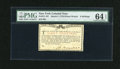Colonial Notes:New York, New York March 5 ,1776 (Water Works) 8s PMG Choice Uncirculated 64EPQ....
