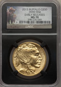 2015 $50 One-Ounce Gold Buffalo, Early Releases, MS70 NGC. NGC Census: (0). PCGS Population: (158)....(PCGS# 535963)