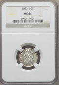 Bust Dimes: , 1833 10C MS61 NGC. NGC Census: (19/130). PCGS Population: (5/133).Mintage 485,000. ...