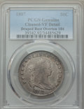 Early Half Dollars, 1807 50C Draped Bust, O-104, T-9, Low R.5, -- Cleaned -- PCGSGenuine. VF Detail. NGC Census: (0/5). PCGS Population: (0/3)...