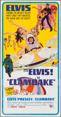 "Movie Posters:Elvis Presley, Clambake (United Artists, 1967). Three Sheet (41"" X 79""). ElvisPresley.. ..."