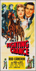 """Movie Posters:Sports, The Fighting Chance (Republic, 1955). Three Sheet (41"""" X 80""""). Sports.. ..."""