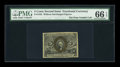 Fr. 1232 5c Second Issue PMG Gem Uncirculated 66 EPQ