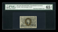 Fr. 1284 25¢ Second Issue PMG Gem Uncirculated 65 EPQ
