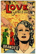 Golden Age (1938-1955):Romance, Love Journal #10 (Our Publishing Co., 1951) Condition: VG/FN....