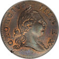Colonials, 1773 1/2P Virginia Halfpenny, No Period MS67 Red and Brown NGC....