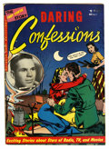 Golden Age (1938-1955):Romance, Daring Confessions #4 (Youthful Magazines, 1952) Condition: FN-....