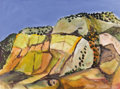 Fine Art - Painting, American:Contemporary   (1950 to present)  , WILLIAM THOMAS LUMPKINS (American 1909-2000). WesternLandscape, mid-1980s. Oil on paper. 21-1/2 x 29 inches (54.6 x73....