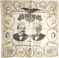 Political:Textile Display (1896-present), Parker & Davis: A Fantastic 1904 Jugate Bandana in MintCondition....
