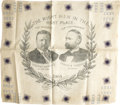 Political:Textile Display (1896-present), Roosevelt & Fairbanks: An Uncommon 1904 Jugate Bandana in Virtually Pristine Condition....