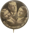 """Political:Pinback Buttons (1896-present), Wilson & Marshall & Carlin: A Rare 1¼"""" Coat-tail Trigate...."""