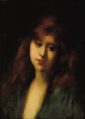 Fine Art - Painting, European:Antique  (Pre 1900), JEAN JACQUES HENNER (French 1829-1905). Ideal Head, circa1879. Oil on panel. 13-1/2 x 10 inches (34.3 x 25.4 cm). Signe...