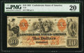 Confederate Notes:1861 Issues, T22 $10 1861 PF-1 Cr. 150.. ...