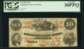 Confederate Notes:1861 Issues, T23 $10 1861 PF-1 Cr. 153.. ...