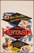 "Movie Posters:Animation, Fantasia (Buena Vista, R-1956). Window Card (14"" X 22""). Animation.. ..."