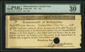 Colonial Notes:Massachusetts, Massachusetts 1781 $16 PMG Very Fine 30.. ...