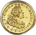 German States:Saxony, German States: Saxony. Friedrich August II gold 1/4 Ducat 1743-FWoF MS62 PCGS,...
