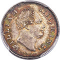 India:British India, India: British India. William IV 1/4 Rupee 1835-(C) MS65 PCGS, ...