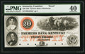 Obsoletes By State:Kentucky, Frankfort, KY- Farmers Bank of Kentucky $20 G210a Proof. ...