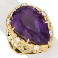 Estate Jewelry:Rings, Amethyst, Diamond, Gold Ring, Leverington The ...