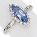 Estate Jewelry:Rings, Sapphire, Diamond, Platinum Ring, Leverington. ...