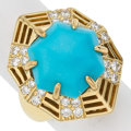Estate Jewelry:Rings, Turquoise, Diamond, Gold Ring, Leverington The...