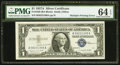 Error Notes:Doubled Third Printing, Fr. 1620 $1 1957A Silver Certificate. PMG Choice Uncirculated 64EPQ.. ...