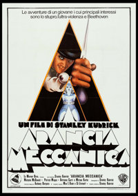 "A Clockwork Orange (Warner Brothers, 1972). Italian 2 - Fogli (39.25"" X 55""). Science Fiction"