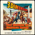 """Movie Posters:Western, The Charge at Feather River (Warner Brothers, 1953). Six Sheet (78""""X 80"""") 3-D Style. Western.. ..."""