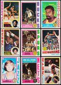 Basketball Cards:Lots, 1974 to 1979 Topps Basketball Collection with Stars and HoFers(446). ...