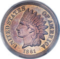 Proof Indian Cents, 1861 1C PR65+ PCGS....
