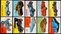 """Non-Sport Cards:Sets, 1954-55 Topps """"World On Wheels"""" High Grade Partial Set (121/180)...."""