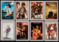 Non-Sport Cards:Sets, 1953 R709-1 Topps Fighting Marines Near Complete Set (95/96). ...