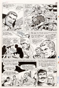 Original Comic Art:Panel Pages, Dick Ayers and John Tartaglione Sgt. Fury #40 Story Page 9Original Art (Marvel Comics, 1967)....