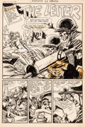 Original Comic Art:Splash Pages, Rudy Palais (attributed) Warfront #31 Splash Page OriginalArt (Harvey Comics, 1957)....