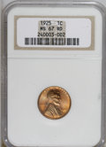 Lincoln Cents, 1925 1C MS67 Red NGC....
