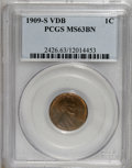 Lincoln Cents, 1909-S VDB 1C MS63 Brown PCGS....