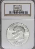 Eisenhower Dollars: , 1971-S $1 Silver MS67 NGC. NGC Census: (67/1). PCGS Population (227/0). Mintage: 2,600,000. Numismedia Wsl. Price for NGC/P...