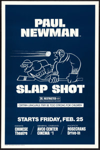 "Slap Shot (Universal, 1977). One Sheet (27"" X 41"") Style B. Sports"