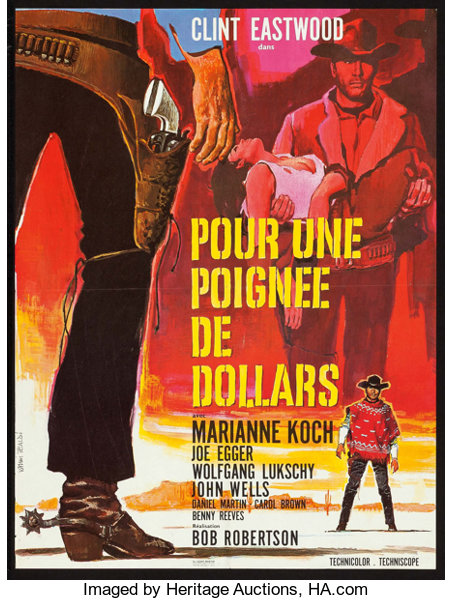 A Fistful of Dollars (PEA, 1966)  French Affiche (22 5