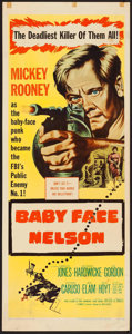 "Movie Posters:Crime, Baby Face Nelson (United Artists, 1957). Insert (14"" X 36"").Crime.. ..."