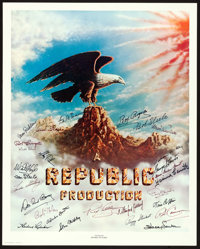 "Stars of Republic Pictures (Nostalgia Merchant, 1977). Autographed Artist Proof Poster (24"" X 30""). Serial..."