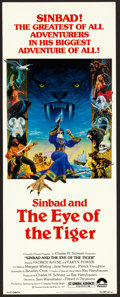 "Movie Posters:Fantasy, Sinbad and the Eye of the Tiger (Columbia, 1977). Insert (14"" X 36""). Fantasy.. ..."