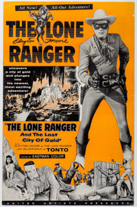 The Lone Ranger And The Lost City of Gold Pressbook Signed by Clayton Moore (United Artists, 1958)