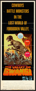 "Movie Posters:Science Fiction, The Valley of Gwangi (Warner Brothers, 1969). Insert (14"" X 36"").Science Fiction.. ..."